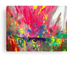 Kid's easel splattered with paint Canvas Print