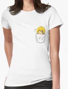 Armin Arlert Pocket Chibi Womens Fitted T-Shirt