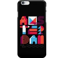 Postcards from Amsterdam / Typography iPhone Case/Skin