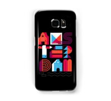 Postcards from Amsterdam / Typography Samsung Galaxy Case/Skin