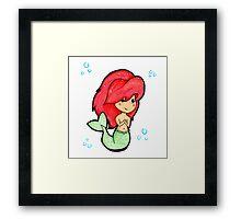 Chibi 'Lil Mermaid - original marker illustration Framed Print