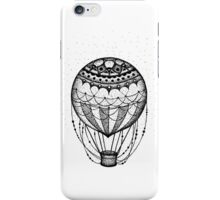 Stippled Mandala Hot Air Balloon iPhone Case/Skin