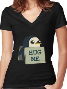 Gunther - Hug Me Women's Fitted V-Neck T-Shirt