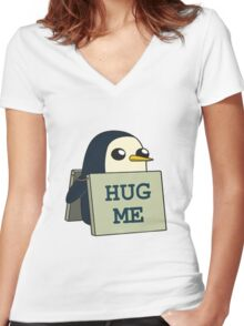 Gunther - Hug Me Women's Fitted V-Neck T-Shirt