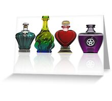 Collection of potion bottles Greeting Card