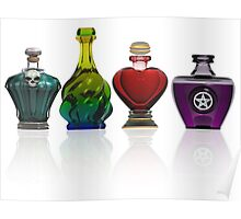 Collection of potion bottles Poster