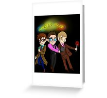 Three Clever Boys Greeting Card
