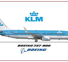 Airlines Collection Boeing 737-800 KLM by wilsoncara