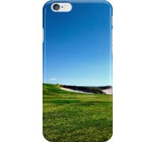 Golf course fairway and bunkers iPhone Case/Skin