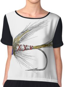 Fly Fishing American Tie Chiffon Top