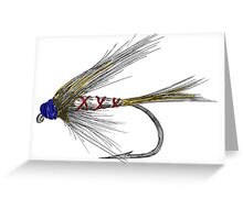 Fly Fishing American Tie Greeting Card