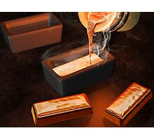 Gold ingot casting Photographic Print