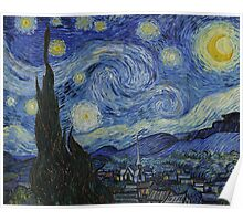 VINCENT, Starry Night, Vincent van Gogh, Art, Artist, 1889  Poster