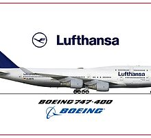 Airlines Collection Boeing 747-400 Lufthansa by wilsoncara