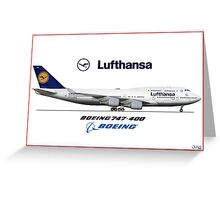 Airlines Collection Boeing 747-400 Lufthansa Greeting Card