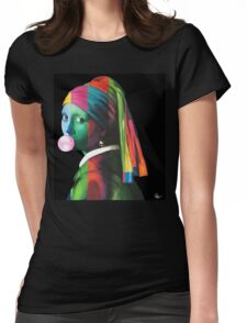 Pop Vermeer Bubble Girl Womens Fitted T-Shirt
