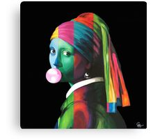 Pop Vermeer Bubble Girl Canvas Print