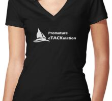 Boat issues Women's Fitted V-Neck T-Shirt
