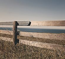 The old wooden fence by Vintagee