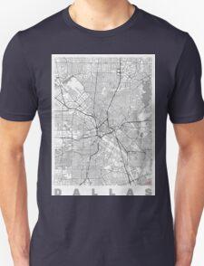 Dallas Map Line Unisex T-Shirt