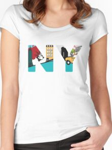 NY Women's Fitted Scoop T-Shirt