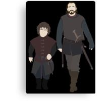 Bronn & Tyrion (Game of Thrones) Minimal Canvas Print