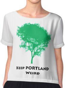 Keep PORTLAND Weird Chiffon Top