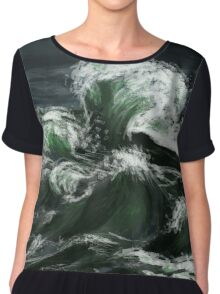 There's Aqua in the Storms Chiffon Top