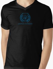 The Expanse - United Nations Logo - Dirty Mens V-Neck T-Shirt