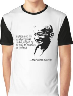 Animal Rights Mahatma Gandha Graphic T-Shirt