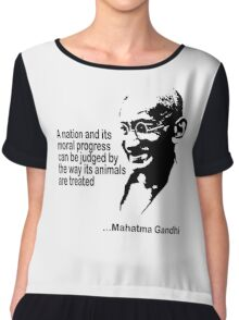 Animal Rights Mahatma Gandha Chiffon Top