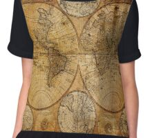 Traveller Gifts travel souvenir vintage world map Chiffon Top
