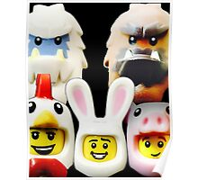 Cute Lego Animal heads Poster