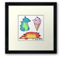 Party Dragons Framed Print