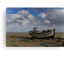 Broken down old fishing boat Canvas Print