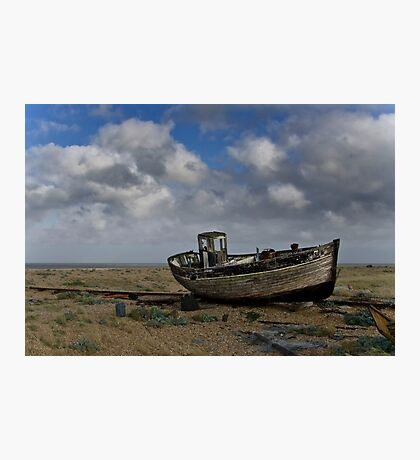 Broken down old fishing boat Photographic Print