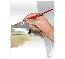 Artist painting a picture Poster