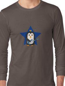 Rock Guitar Penguin Long Sleeve T-Shirt