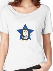 Rock Guitar Penguin Women's Relaxed Fit T-Shirt