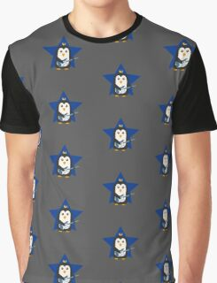 Rock Guitar Penguin Graphic T-Shirt