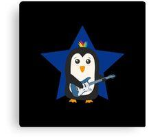 Rock Guitar Penguin Canvas Print