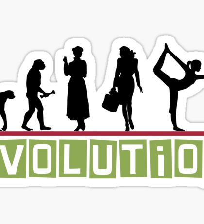 "Yoga ""Evolution"" T-Shirt Sticker"