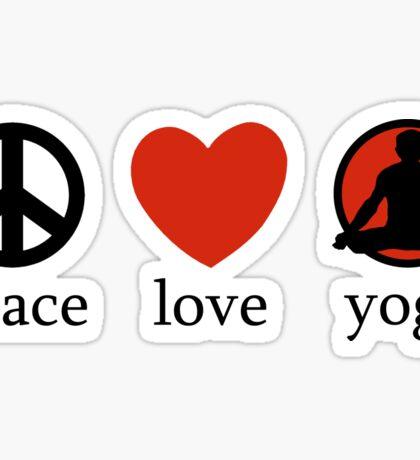 Peace Love Yoga T-Shirt Sticker