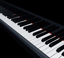 Piano keys by Paul Fleet