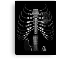 Guitar Skeleton Microphone Rock Music Lovers Funny Canvas Print
