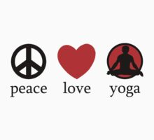 Peace Love Yoga T-Shirt One Piece - Short Sleeve