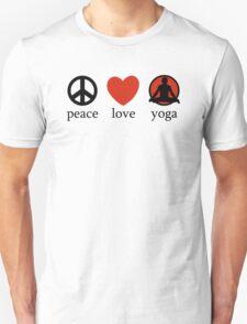 Peace Love Yoga T-Shirt Unisex T-Shirt