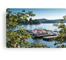 Boats on Lake Arrowhead, CA Canvas Print