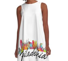 Philadelphia Pennsylvania Skyline A-Line Dress