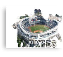 Yankee Stadium Grunge Logo Canvas Print